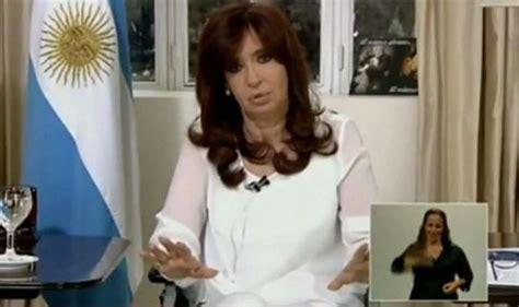 President Cristina Fernandez de Kirchner announces ...