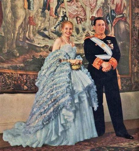 President Juan Perón and his influential wife, Evita ...