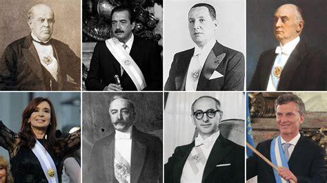 Presidentes de Argentina  1826   2019