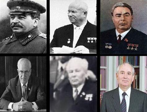 Presidentes de la URSS durante la Guerra Fría  1945 1991 ...