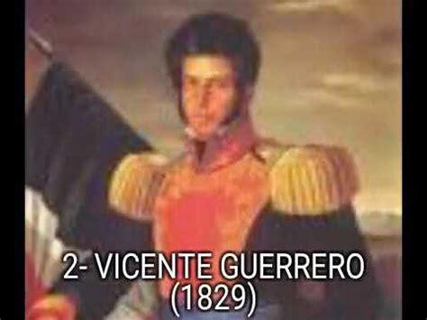 Presidentes de México  1824 2017    YouTube