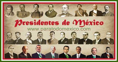 Presidentes de México: Lista completa con biografías cortas