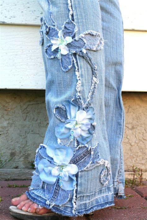 Pretty Petals. Flowers Denim beaded. Any size. Skinny or ...