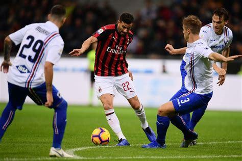 Preview: Serie A Round 18 – AC Milan vs. Sampdoria