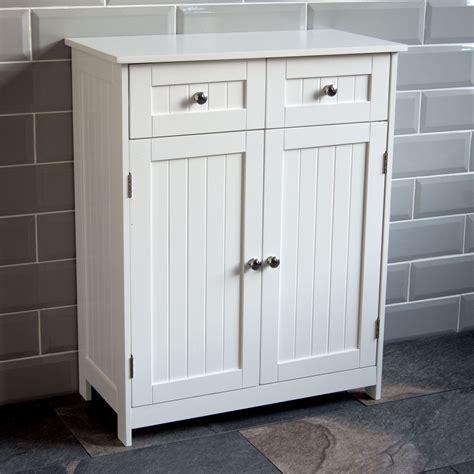 Priano Bathroom Cabinet 2 Drawer 2 Door Storage Cupboard ...