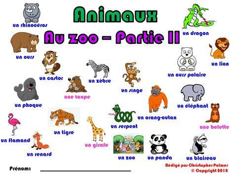 Primary French: Animals   Part II: At the Zoo  Key Stage 1 ...