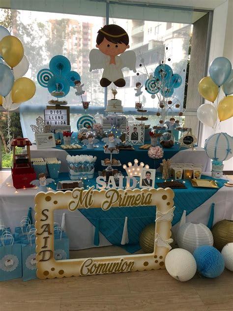 Primera comunión niño #ideas candy bar #mesa dulce #mesa ...