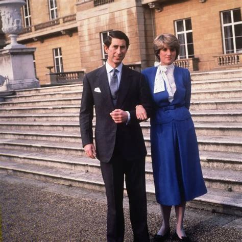 Prince Charles Son of Queen Elizabeth with His Fiancee ...