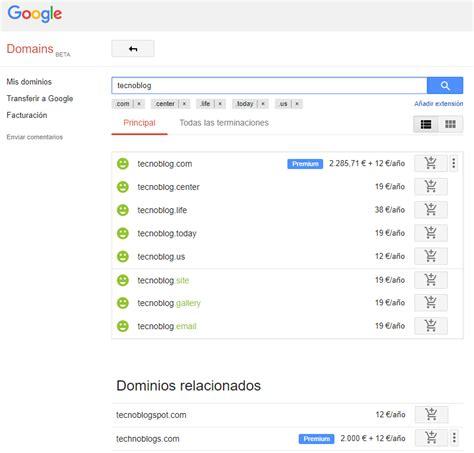 Principales características de Google Domains, el servicio ...