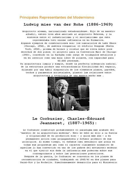 Principales Representantes Del Modernismo | Diseño ...