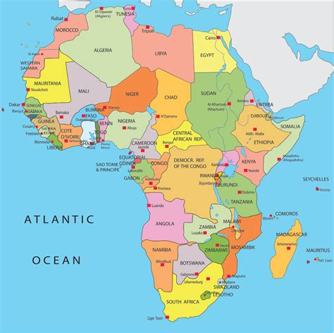 Printable Map Of Africa With Capitals   Printable Maps