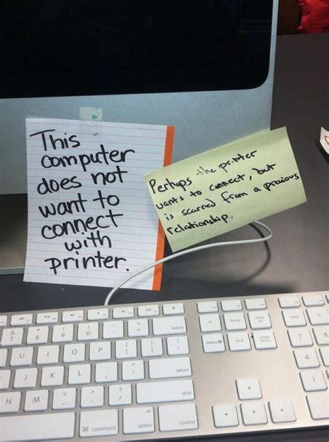 Printer Problems | Humor Burst | Computer humor, Funny ...
