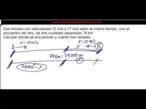 Problema resuelto Fisica 4º ESO Cinematica Encuentros de ...