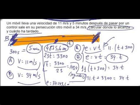 Problema resuelto Fisica 4º ESO Cinematica Persecuciones ...
