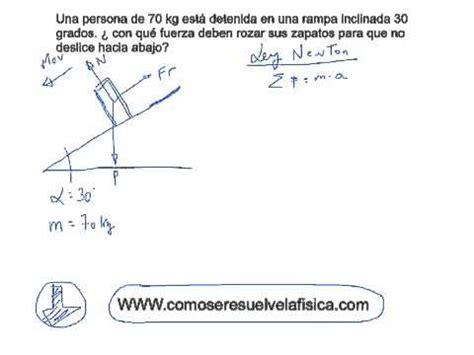 Problema resuelto Fuerzas 4º ESO Calcular fuerza de ...