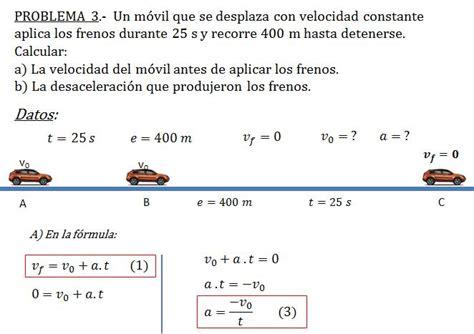 PROBLEMAS DE MRUV   CIENCIAS II SEC 251 TM