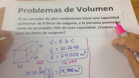 Problemas sobre Volumen   Matemática Básica   Geometría ...