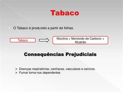 Problemas sociais  drogas, tabaco e álcool