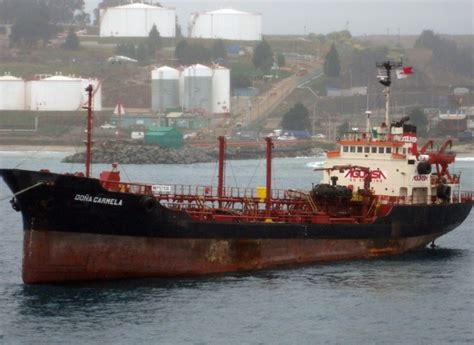 Product tanker Dona Carmela spilled oil at Quintaro port ...