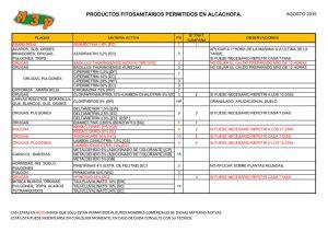 productos fitosanitarios permitidos en alcachofa ...
