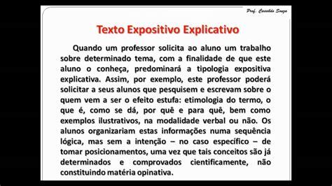 Prof. Cassildo Souza   DIFERENÇAS ENTRE TEXTO EXPOSITIVO ...