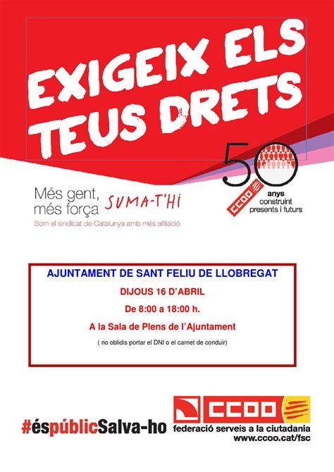 Programa CCOO Ajuntament Sant Feliu de Llobregat by CCOO ...