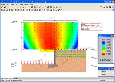 Programa de cálculo de muros de contención   Eléments de ...
