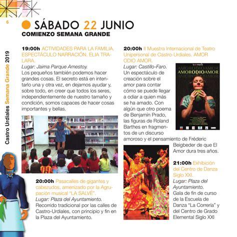 Programa de fiestas de Semana Grande 2019 en Castro Urdiales