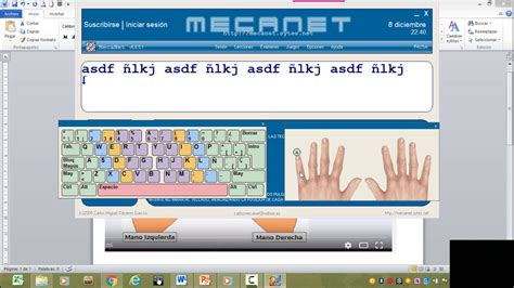 Programa de MecaNet  mecanografía  para escribir rápido en ...