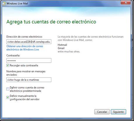 programacion: Configuración de Windows Live Mail con ...