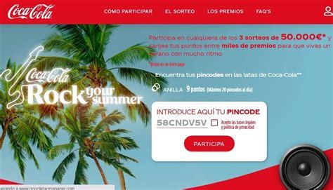 Promoción Coca cola Verano 2020  Mas de 40.000 premios