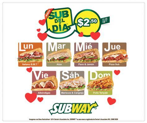promocion SUBWAY del dia oferta sandwiches   19feb15 ...
