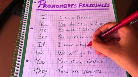 Pronombres personales en inglés   Explicación   YouTube