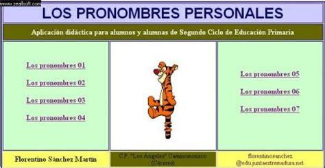 Pronombres personales   ESCUELA 2018   Primaria