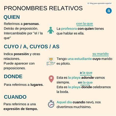 Pronombres relativos: quien, cuyo, donde, cuando