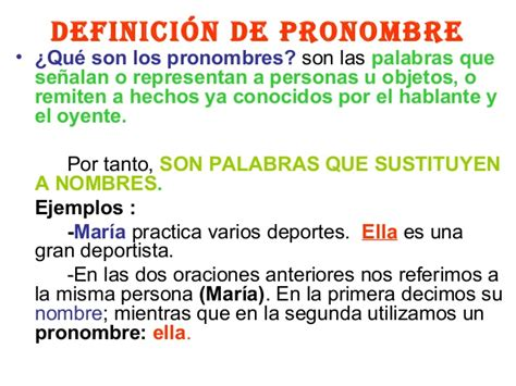 Pronombres y sus tipos  tema 7, 2013