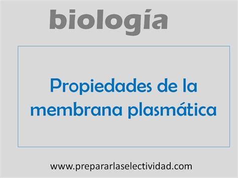 Propiedades de la membrana plasmática   YouTube