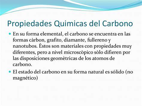 Propiedades físicas y químicas del carbono e hidrogeno