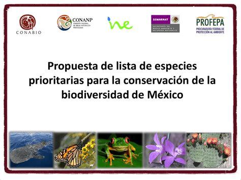 Propuesta de lista de especies prioritarias para la ...