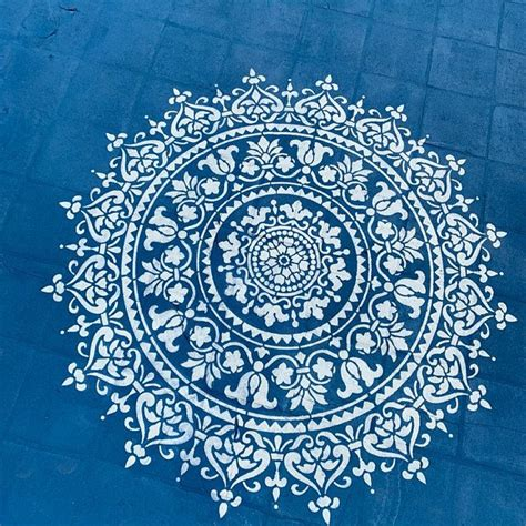 Prosperity Mandala Stencil For Walls – MANDALA WALL ...