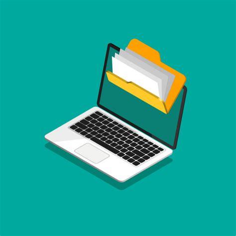 Protección de archivos. carpeta con archivos y documentos ...