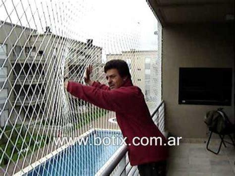 Proteccion de balcon con red de nylon www.botix.com.ar ...
