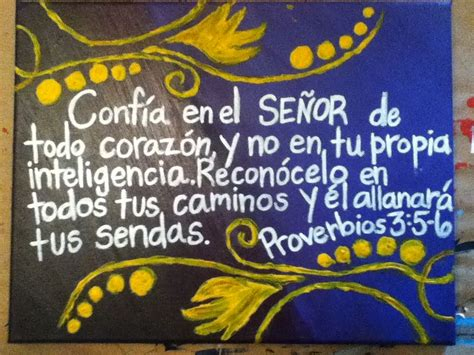 Proverbs 3:5 6 in Spanish #canvas #painting #acrylics ...