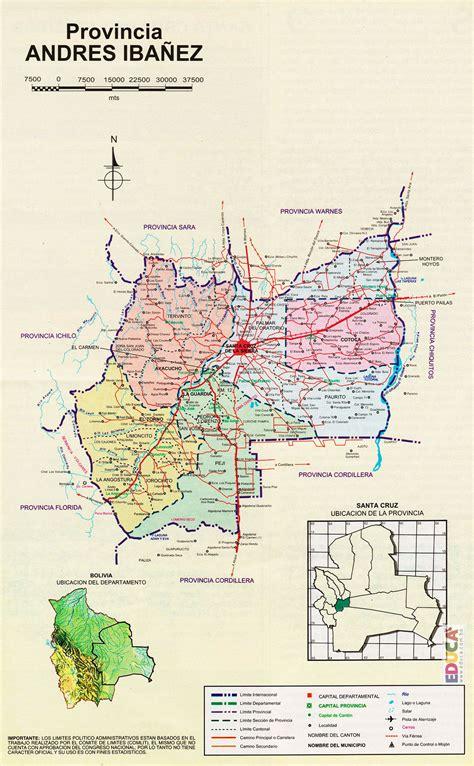 Provincia Andrés Ibáñez  Mapa  | Departamento de Santa ...