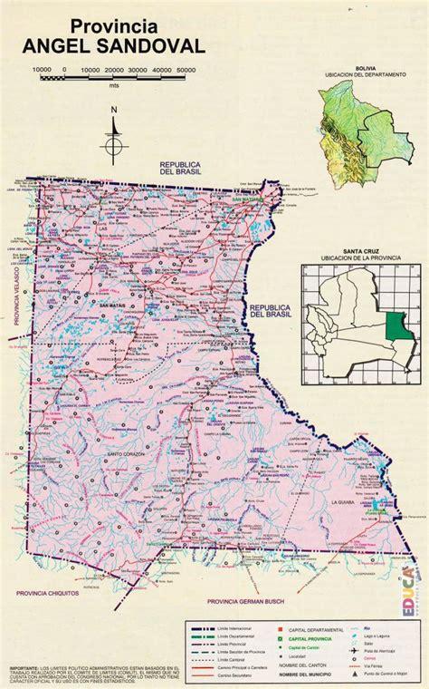 Provincia Ángel Sandóval  Mapa  | Departamento de Santa ...