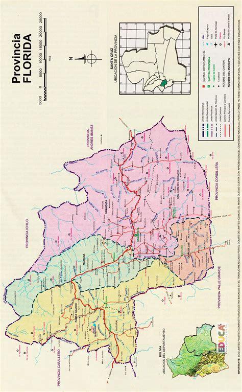 Provincia Florida  Mapa  | Departamento de Santa Cruz ...