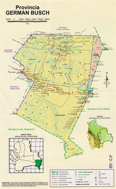 Provincia Germán Busch  Mapa  | Departamento de Santa Cruz ...