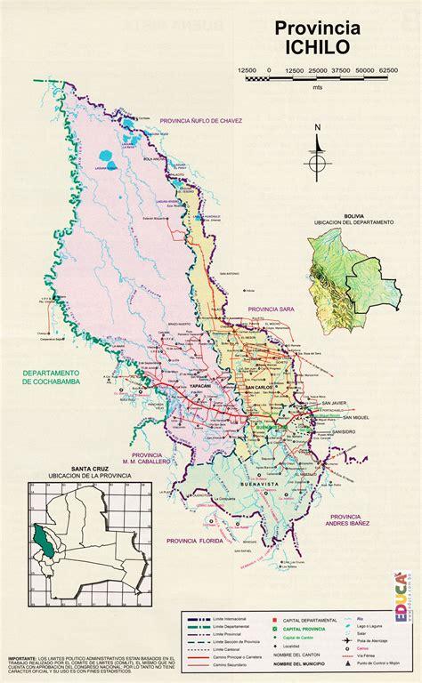 Provincia Ichilo  Mapa  | Departamento de Santa Cruz ...