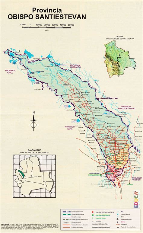 Provincia Obispo Santistevan  Mapa  | Departamento de ...