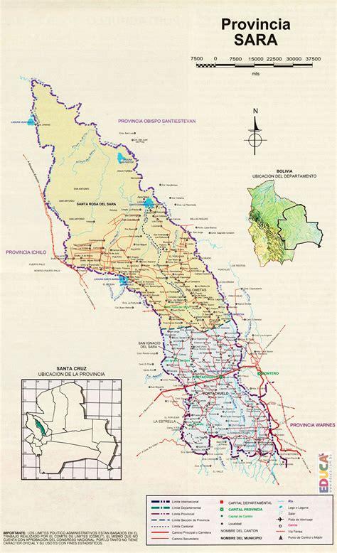 Provincia Sara  Mapa  | Departamento de Santa Cruz ...
